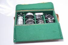 RARE*  PENTACON SIX, PRAKTISIX ACCESSORIE CASE ONLY ZEISS BIOMETAR,SONNAR,TESSAR