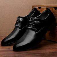 New Men's Wedding Shoes Pointed Leather Lace Up Formal Office Work Dress Shoe Q