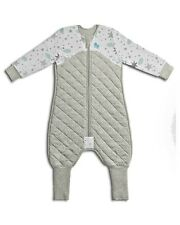 LOVE TO DREAM SLEEP SUIT 3.5 TOG - WHITE / GREY 12-24 MONTHS SIZE 1
