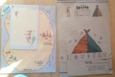 Indian Village Writing Paper Letter Stationary Sets x 2