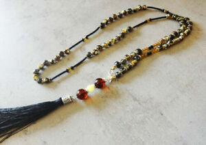 Elegance Long Baltic Amber Necklace 27.5''