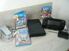 NINTENDO WII U 32GB BUNDLE INCLUDES CONSOLE GAME PAD AND 4 GAMES MARIO KART 8