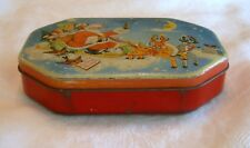 FILLERYS SANTA CHRISTMAS TOFFEE CANDY TIN 1930s English
