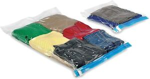 Whitmor Space Maker Travel Bag Combo Set 2 Storage Bags Large/Small Clear