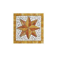 Rosoni rosone mosaico in marmo su rete per interni esterni 33x33 HD-GIALLO