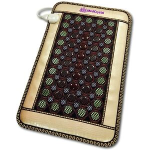 "MediCrystal 4-Gems 86 Stones Far InfraRed Heating Bio Magnetic Mini Mat 32""x20"""