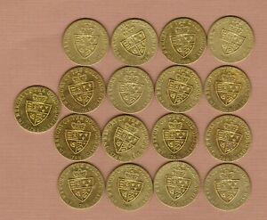 17 THE GOOD OLD DAYS HALF GUINEA TOKENS DATED 1788 IN EXTREMELY FINE CONDITION
