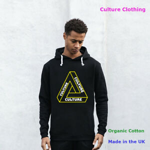 Mens Fleece Organic Cotton Hoodie Sweatshirt Hooded Pullover Casual Adult Top