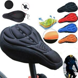 3D Anti-Slip Silicone Bike Bicycle Saddle Seat Cover Pad Padded Soft Cushion