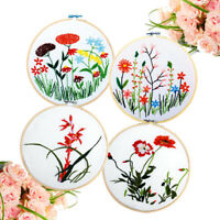 8cm Bamboo Frame Embroidery Hoop Ring DIY Cross Stitch Machine Loop Sew ro