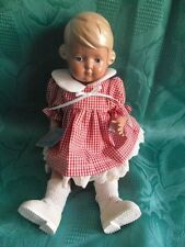 Schildkröt Puppe Nr. 25 Inge Matrosenkleid rot-karriert blod Original 10337