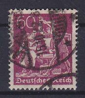 DR Mi Nr. 184, geprüft Bechthold BPP, gest., Infla Deutschs Reich 1921, used