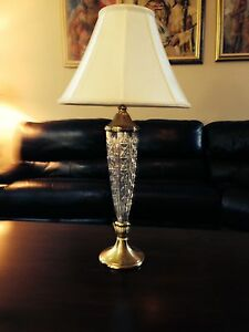 """Waterford Crystal Lamp Coleraine RARE STUNNING TALL 33"""" MINT CONDITION"""