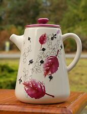 Starbucks Coffee Company 2007 40oz Pink Purple Wine Cherry Red Leaves Tea Pot
