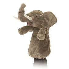 Elephant Stage Puppet w/Ring to Move Trunk, Folkmanis MPN 2830, 3 & Up, Unisex