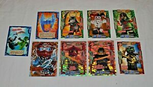 2017 Lego NINJAGO SERIES 2 Trading Cards x 9 Job Lot. VGC