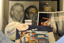 LOT OF NY YANKEES PHOTO SIGN TICKET PROMO BALL CARDS RECORD TREASURE CHEST
