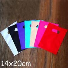 Small colorful Plastic Gift Bags, Plastic shopping bags 14x20cm 100pcs/lot