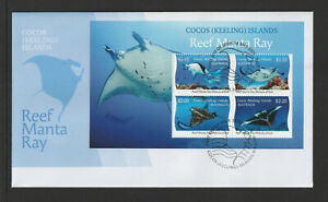 Cocos (Keeling) Islands 2021 : Manta Ray - First Day Cover with Minisheet