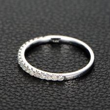 0.87Ct Diamond 925 Sterling Silver Half Eternity Wedding Anniversary Ring/Band