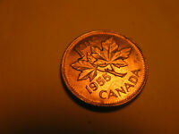 Canada 1955 Shoulder Fold Variety Gem BU Small Cent Penny IDJ318.