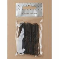 New Pack Of 36 Extra Long  7cm Black Wave Kirby Hair Bobby Pins Grips Clips