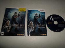 Resident Evil 4  COMPLETE - NINTENDO Wii  91k