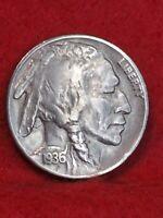 1936 Philadelphia Mint Double Die Obverse Buffalo Nickel#6