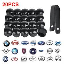 20x Black Wheel Nut Caps Bolt Covers Audi VW Vauxhall Bmw Mercedes Renault 17mm