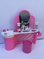 Barbie Dream House Pink Vanity Furniture Vintage with Accessories Lot