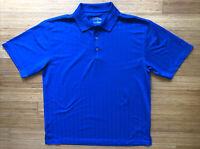 PGA Tour Polo Golf Mens Shirt L Blue Short Sleeve Casual Wear - Polyester