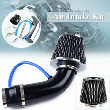 "Air Intake Kit Black Pipe Diameter 3""+Cold Air Intake Filter+ Clamp+ Accessories"