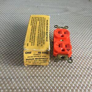 HUBBELL IG5362 20 AMP 125 VOLT 3 WIRE DUPLEX RECEPTACLE