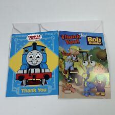 Bob the Builder & Thomas The Tank Engine Thank You Cards Hallmark Envelopes