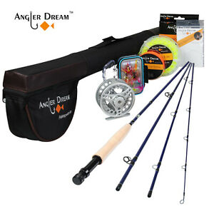 "8'4"" 3WT Fly Fishing Rod With Silver Fly Fishing Reel & Fly Fishing Line Combo"