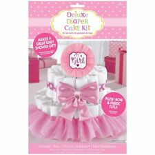 It's a Girl Baby Shower Diaper Cake Kit - Great for Baby Shower Decorations