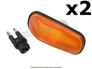 Saab 9-3 9-5 900 9000 (1986-2005) Side Marker Light Yellow Front Left and Right