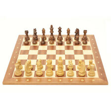 Folding Wood Chess Game Set Wooden Board Crafted Chessboard Travel Portable