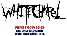 "Whitechapel band Rock Music JDM Vinyl Decal Car Sticker Window bumper Laptop 7"""
