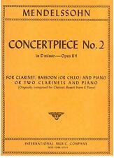 Mendelssohn: Pezzo Da Concerto N.2 Per 2 Clarinetti e Piano - International