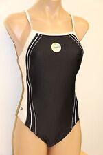 NWT Speedo Swimsuit Bikini 1 piece Black size 10 36
