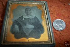 Tin TYPE  black OR indian  american Lady 3 1/2 x 3""