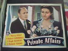PRIVATE AFFAIRS, 2 orig 1940 Universal LC's [Nancy Kelly, Roland Young]