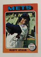 1975 Rusty Staub # 90 Topps Baseball Card New York Mets NY