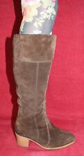 70er 70s Vintage LEDER WINTER STIEFEL warm Leather BOOTS Wildleder 39 Hippie VTG