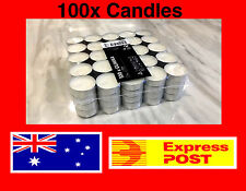 100 NEW Tealight Candle Wedding Party Home Event Bulk Candles Tea Light Wax IKEA