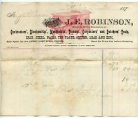 1880 Billhead Invoice Camp County Pittsburg Texas TX - J.E. Robinson Avery Plows