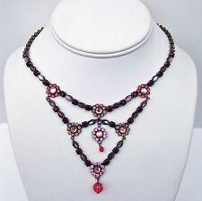 SORRELLI Zinnia Collection Swarovski Crystal Bib Necklace - Rare & Stunning!