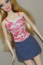 Barbie Outfit Lace Cami Top Jean Skirt Fits Fashionista Model My Scene Liv Doll