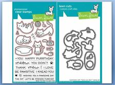 Lawn Fawn Photopolymer Clear Stamp & Die Combo ~ MEOW YOU DOIN' ~LF1315,1316